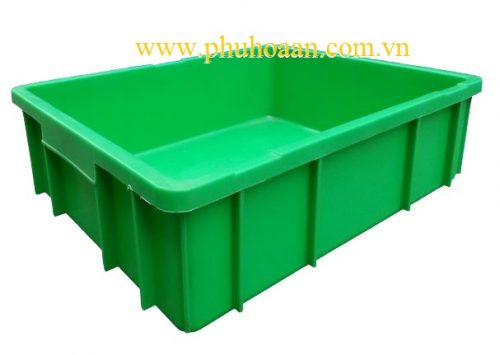 Thùng nhựa (hộp nhựa) B9 xanh lá nhìn bao quát cao cấp Phú Hòa An
