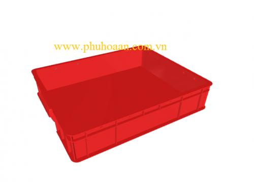 Thùng nhựa (hộp nhựa) HS006 màu đỏ nhìn bao quát cao cấp Phú Hòa An.