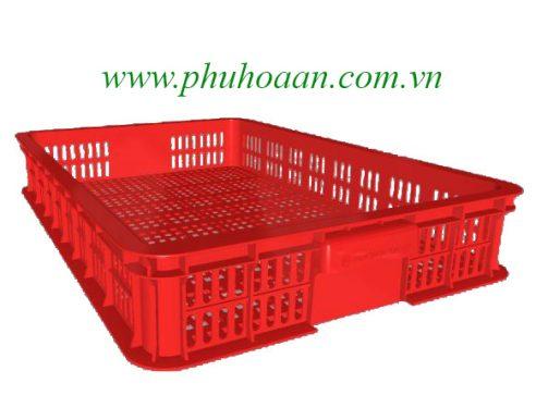 Sóng nhựa (rổ nhựa) HS010 màu đỏ nhìn bao quát cao cấp Phú Hoà An