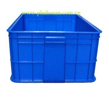 Thùng nhựa ( hộp nhựa) HS017 xanh dương cạnh bên cao cấp Phú Hòa An