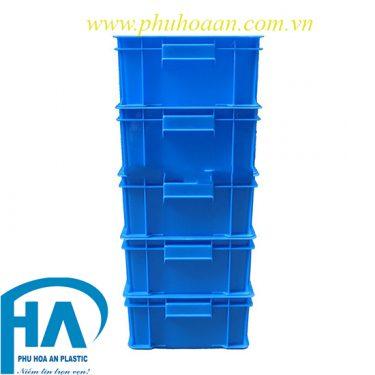 Thùng nhựa(hộp nhựa) B4 xếp chồng xanh dương cao cấp Phú Hòa An