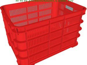 Sóng nhựa ( rổ nhựa ) HS012 màu đỏ nhìn bao quát cao cấp Phú Hòa An