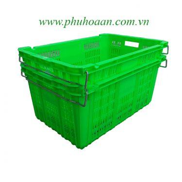 Sóng nhựa (rổ nhựa) HS011 xanh la nhìn bao quát cao cấp Phú Hòa An