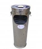 Thùng rác inox 18 lít gạt tàn cao cấp Phú Hòa An