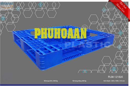 Pallet nhựa PL08LK cao cấp, bền chắc nhất thị trường