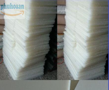 Thớt nhựa PP trắng 400x300x20 mm NTT Phú Hòa An siêu bền