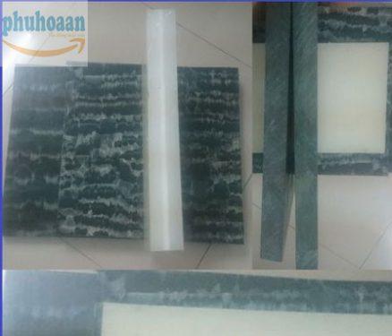 Thớt nhựa PP xanh đen 400x400x30 mm NTT chất lượng cao Phú Hòa An