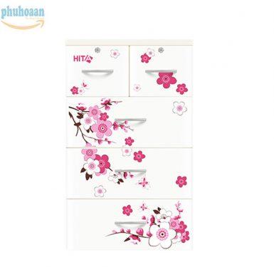 Tủ nhựa Hita họa tiết hoa anh đào HT bán chạy nhất thị trường