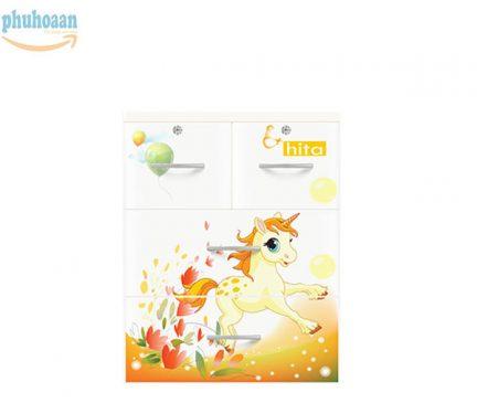 Tủ nhựa Hita họa tiết ngựa trắng HT màu sắc tươi mới