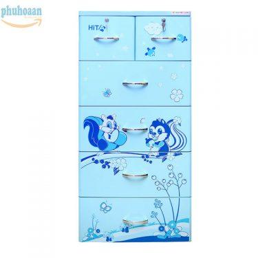 Tủ nhựa Hita họa tiết hoa sóc xanh HT giá siêu hấp dẫn