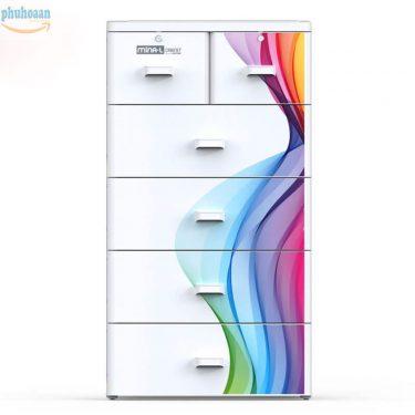 Tủ nhựa Mina 5 ngăn màu sắc đa dạng