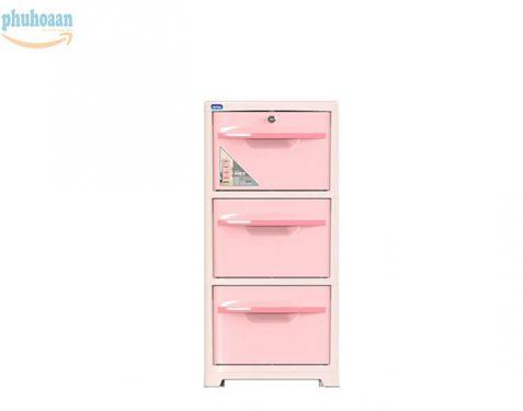 Tủ nhựa SAKE 2 hồng 3 ngăn DT bán chạy nhất thị trường