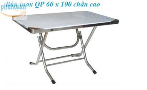 Bàn inox QP 60 x 100 chân cao cam kết chất lượng vượt trội
