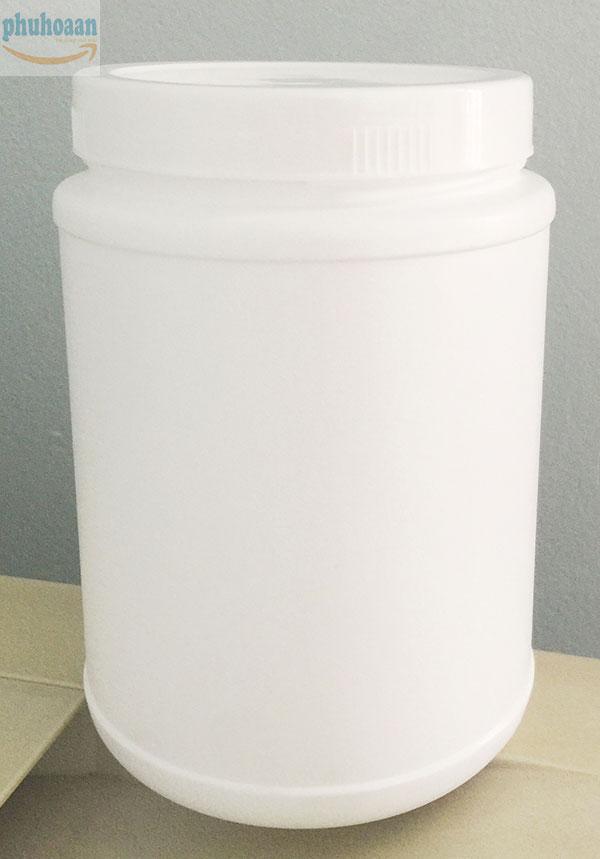 Hũ nhựa tròn 500g đựng hóa chất giá rẻ