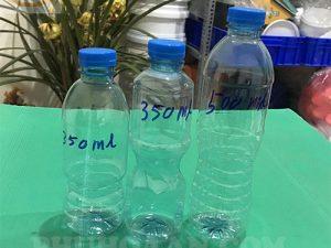 chai nước suối 350ml - 500ml